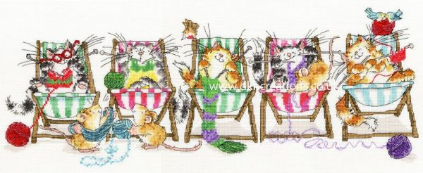 Kitty Knit Margaret Sherry Cross Stitch Kit